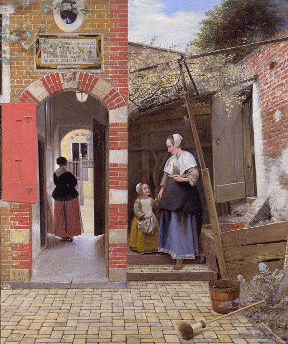 Pieter de Hooch, Binnenplaatsje van een huis in Delft, 1658 © The National Gallery, London © The National Gallery, London