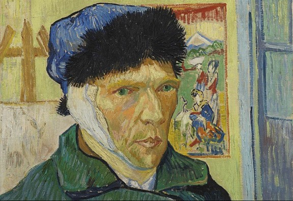 Vincent van Gogh, Zelfportret met verbonden oor, 1889, The Samuel Courtauld Trust, The Courtauld Gallery, Londen. Te zien in de tentoonstelling In the Picture in het Van Gogh Museum (tot 30 augustus 2020).